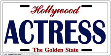Actress License Plate - 3206