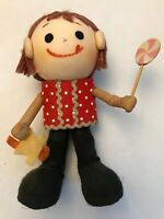 "Vintage Madeline doll 6"" with candy and red hair"