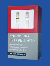 HIGH-QUALITY Ethernet Network Gold Plated Cable CAT7  U/FTP Flat Patch Lead -30M