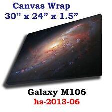 Galaxy M106 Hubble Spitzer JPL NASA space telescope Canvas Wrap art print