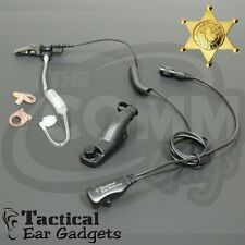 Hawk Police Lapel Microphone with Tube Motorola APX4000 APX6000 APX7000 EP1334QR