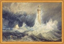 Bell Rock Lighthouse William Turner Leuchtturm Meer Sturm Wellen Boot B A2 03545
