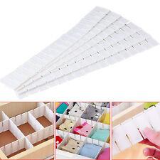 6pc Adjustable Clapboard Drawer Divider Partition Storage Organiser Wardrobe