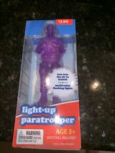 Play Right Light-up Paratrooper Multi-Color Flashing Lights - New In Box. Purple