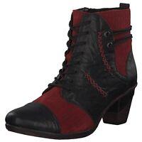 Details zu Remonte Damen Schuhe Stiefel Schnürer Stiefelette Boots Schwarz Leder Art.1472