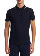 $395 Ralph Lauren Purple Label Mens Mercerized Cotton Pique Striped Polo Shirt