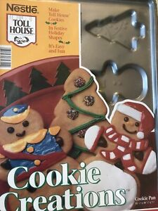 Ecko Nestle Toll House Christmas Cookies Gingerbread Snowman Non Stick Bakeware