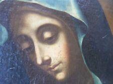 École Italienne  XVIIIe-Tableau ancien-Vierge en prière-MADONNE-Huile-HST-OIL