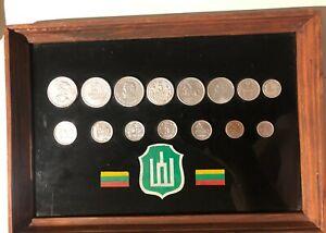Lithuania Old Souvenir Coin Set 1925-1938