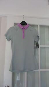 Nike Womens Pink/Grey Sports Tennis Golfing Top T-Shirt Size S Brand New RRP £30