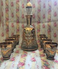 Beautiful Vintage Murano Glass Decanter Set