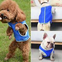 Summer Cooling Jacket Coat Blue Vest T-shirt Clothes Clothing For Dog Puppy Pet