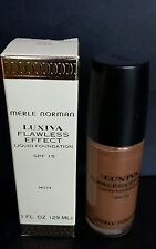 NEW MERLE NORMAN LUXIVA FLAWLESS EFFECTS  LIQUID FOUNDATION (MD74)