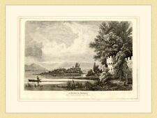 Die Roseninsel im Starnbergersee von F. Mayer Wörth HOLZSTICH III 710