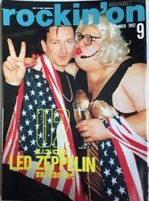 rockin'on 9/1993 Japan Music Magazine U2 Led Zeppelin Slash