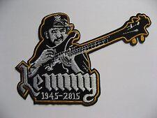 Lemmy Kilmister Motorhead Motörhead Embroidered Iron On/Sew on Patch Guitar