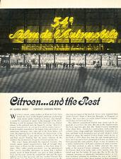 1968 Citroen Dyane and DS in Paris Original Car Review Print Article J443
