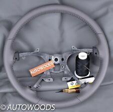 2007-2013 Dk Titanium  Silverado Avalanche  Leather Steering Wheel Remanufacture
