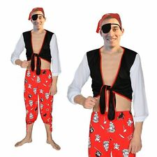 Adult PIRATE  fancy dress costume, Mens 4 piece set NEW regular adult size