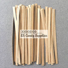 100 Brown Paper Twist Ties, Brown Twist Ties - 4""
