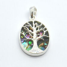 Tree of Life Natural Abalone Sterling Silver Pendant (147AB)
