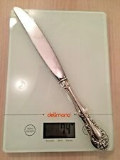 ALVIN STERLING SILVER - Chateau ROSE Handle Dinner Knife - STAINLESS BLADE - 74g