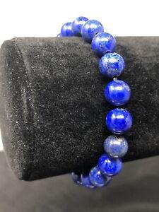 "6.5"" Natural Lapis Lazuli Bead 8mm Stretch Bracelet Handcrafted P17"