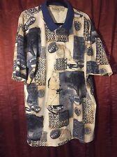 Cotton Traders  shirt mens size XXL polo 100% cotton 2xl travel theme