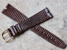 Genuine Lizard made by Hirsch Nos Brown T-bar lugs 18mm vintage watch band