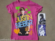 NEW JUSTIN BIEBER T-Shirt Top Tee Movie PHOTOS Girls XL 14 16