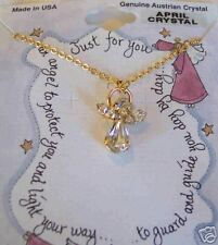Necklace April Clear Austrian Crystal Month Angel