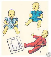 """2715 Vintage Chubby Baby Doll Pattern - Size 11"""" - Year 1940"""