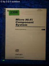 Sony Bedienungsanleitung CMT SE1 Component System (#2306)