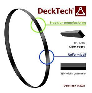 DeckTech 5mm x 0.55mm Flat Belt 51mm - 103mm Ø Inner Diameter Rubber Motor Drive