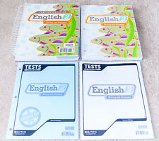 BJU Bob Jones 2nd grade ENGLISH 2 NEW Student WorkText, Tests, Key, COMPLETE SET
