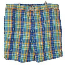New listing NWT Polo Ralph Lauren Mens Size 4XLT Multicolor Plaid Vented Swim Shorts