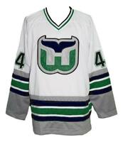 Any Name Number Size Whalers Retro Custom Hockey Jersey White Pronger