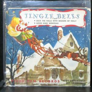 "The Caroleers - Jingle Bells 7"" Vinyl 78 RPM VG+ Peter Pan X-1 USA 1950 red"