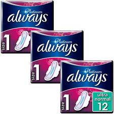 Always Platine Normal Coussinets Standard Sanitaires Towels Avec Ailes ,Taille 1