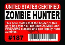 Magnet - Zombie Hunter for the Night of the Living Dead / Walking Dead fan