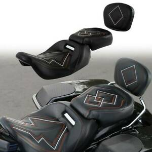 Two-up Front Rear Seat Backrest Fit For Harley Touring Road Glide King 2009-2020