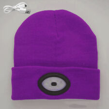 6LED Knit Hat USB Rechargeable Hands Free Flashlight Cap for Climbing Fishing
