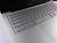 SILIKON Abdeckung Tastatur SCHUTZ MacBook Air Pro QWERTZ Silber