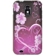 Samsung Galaxy S2 Epic 4G D710 - RUBBERIZED HARD SHELL EXOTIC LOVE BACK COVER