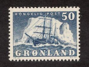 Sc35 - Greenland - 50 - 1950 - Steamship - MH - superfleas - cv $52.50