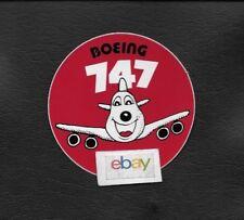 BOEING AIRCRAFT B747-200 BAGGAGE LABEL/FLIGHT BAG 1970'S