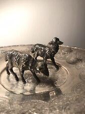 Antique Islamic Arabic Solid Silver 2 Farm Sheep Lamb Animal Figure Statue