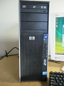 HP Z400 Computer FX625AV Intel Xeon CPU W3503@2.4GHz, 4GB, 160GBHDD WinVistaBusi
