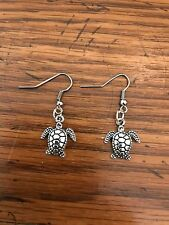 Silver color Sea Turtle Earrings / Earing Charms