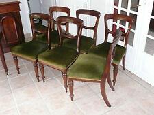 6 chaises victorienne en acajou anglaise du 19 siècle  en bon état XIX